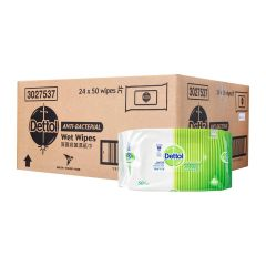 Dettol Anti-Bacterial Wet Wipes - Case 24 x 50 per pack