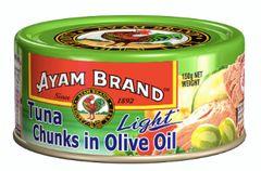Ayam Tuna Light Chunks Olive Oil 150g
