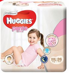 Huggies Platinum Pants Girl XXL 26S