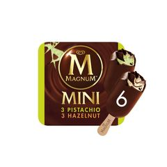 Magnum Mini Pistachio And Gianduia Multipack Ice Cream 6 x 60 ml