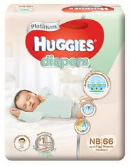 Huggies Platinum Diapers NB 66S