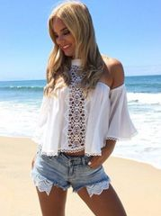 New Off The Shoulder Blouse Beachwear