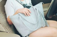 Fashion Fringe Zipper Women Handle Bag