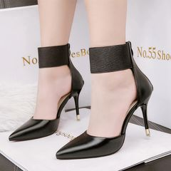 One-buckle Belt Stiletto Pumps