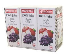 Marigold 100%APPLE Grape 6X250ML