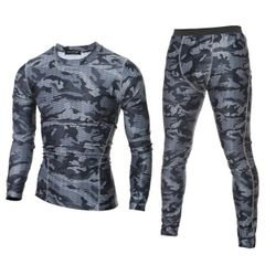 Outlet Camouflage O Neck Men Sport Suit