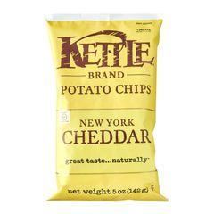 Kettle New York Cheddar Potato Chips 142 g