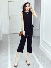 Casual Sleeveless Top With Pants Sets