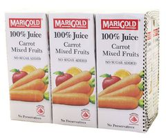 Marigold 100%CARROT Mixed Fruits 6X250ML
