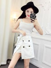Knitting Shirts With Asymmetrical Skirt Women Suits