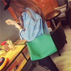 Brief Style Solid Shoulder Bag