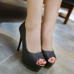 Fashion Solid Stiletto Peep-Toe Women Pumps