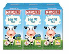 M'gold UHT Low Fat Milk 6X200ml