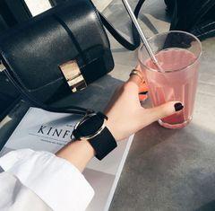 Outlet Black Metal Ring All Match Fashion Bracelet