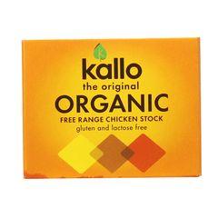 Kallo Organic Free Range Chicken Stock Cubes 66 g