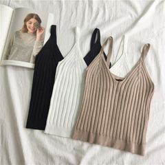 New Spaghetti Straps V Neck Tank Top