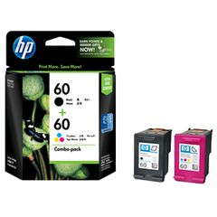 HP 60 BLACK/TRI-COLOR COMBO PACK INK CARTRIDGES CN067AA