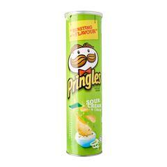 Pringles Sour Cream And Onion Potato Crisps 150 g