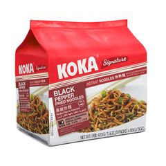 Koka Black Pepper Mi Goreng Fried Instant Noodles 5 x 85g