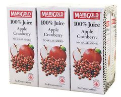 Marigold 100%APPLE C'berry 6X250ML