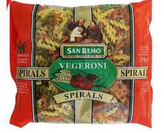 Sanremo Pasta Veger Spiral (No 121) 375G
