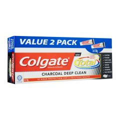 Colgate Total Toothpaste Charcoal Deep Clean Super Value Twin Pack 2 x 150 g