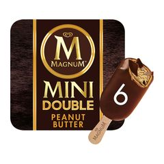 Magnum Mini Double Peanut Butter Multipack Ice Cream 6 x 60 ml