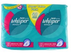 Whisper Jumbo Pack Wing 40S