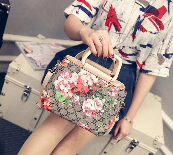 Fashion Floral Handle Bag
