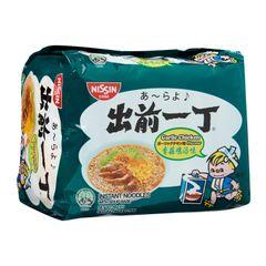 Nissin Chu Qian Yi Ding Garlic Chicken Instant Noodles With Soup Base 5 x 86g