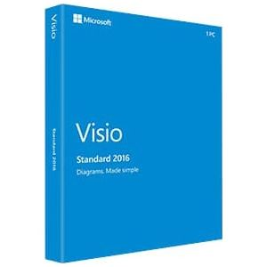 VISIO 2016 RETAIL PACK FOR WINDOWS (MEDIALESS BOX - CONTAINS PRODUCT KEY) - ENGLISH LANGUAGE