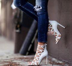Street Fashion Bandage High Heel Sexy Pump