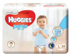 Huggies Platinum Pants Boy L 33S