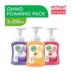 Dettol Antibacterial Foaming Hand Wash Mixed Pack Of 3 3 x 250 ml