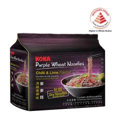 Koka Chilli And Lime Flavour Purple Wheat Noodles 5 x 60g