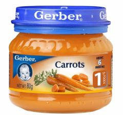 Gerber Stage 1 Carrots 80G
