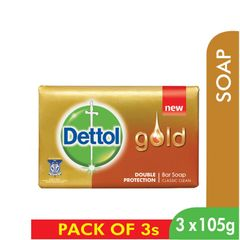 Dettol Gold Classic Clean Bar Soap 3 x 105 g