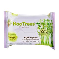 Nootrees Age Impact Eco-Dot Cleansing Wipes 25 per pack