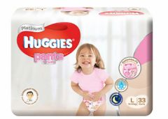 Huggies Platinum Pants Girl L 33S