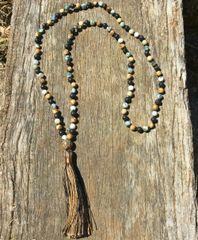 108 bead lava stone diffusing mala necklace
