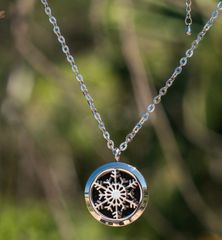 Snowflake Aromatherapy/Essential Oil Diffuser locket necklace