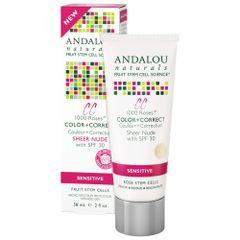 ANDALOU NATURALS COLOR + CORRECT SHEER NUDE SPF 30