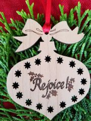 Rejoice Christmas Ball Ornament