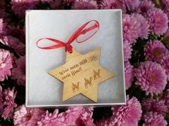Wisemen Star Dan River Reclaimed flooring ornament