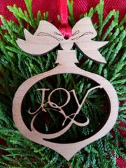 Joy Christmas Ball Ornament