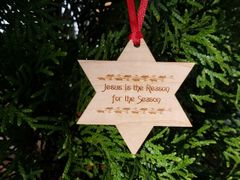 Jesus Star Dan River Reclaimed flooring ornament