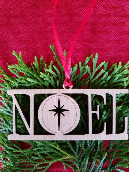 Noel Christmas Ornament - Wood Christmas Ornament-Noel Christmas Ornament-Wood Ornament