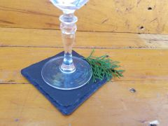"4"" Slate Coasters, 20 pcs./Case"