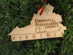 VA State Dan River Reclaimed flooring ornament