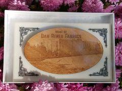 Corian Plaque with Dan River Reclaimed Flooring